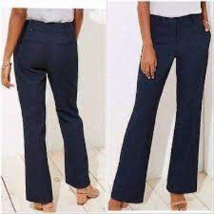 Loft Navy Tweed Marisa Trouser Size 4